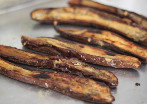 Eggplant glazed with miso
